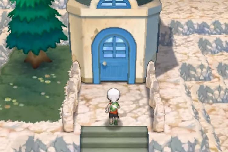 TM31 outside house in Sootopolis in Pokemon ORAS