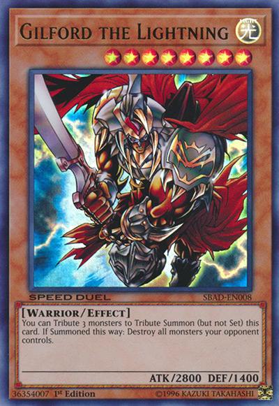 Gilford the Lightning YGO Card