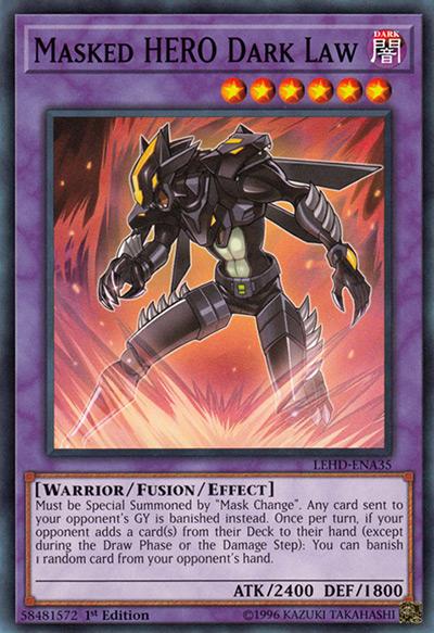 Masked HERO Dark Law Yu-Gi-Oh Card