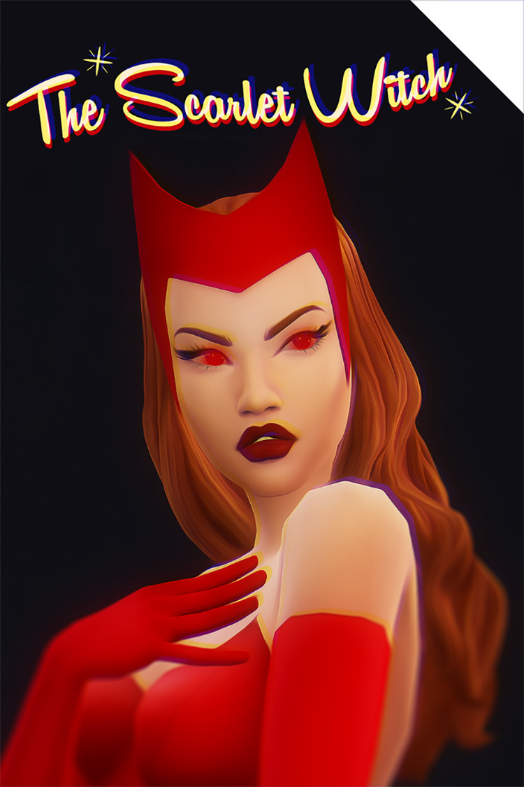 The Scarlet Witch for Sims 4