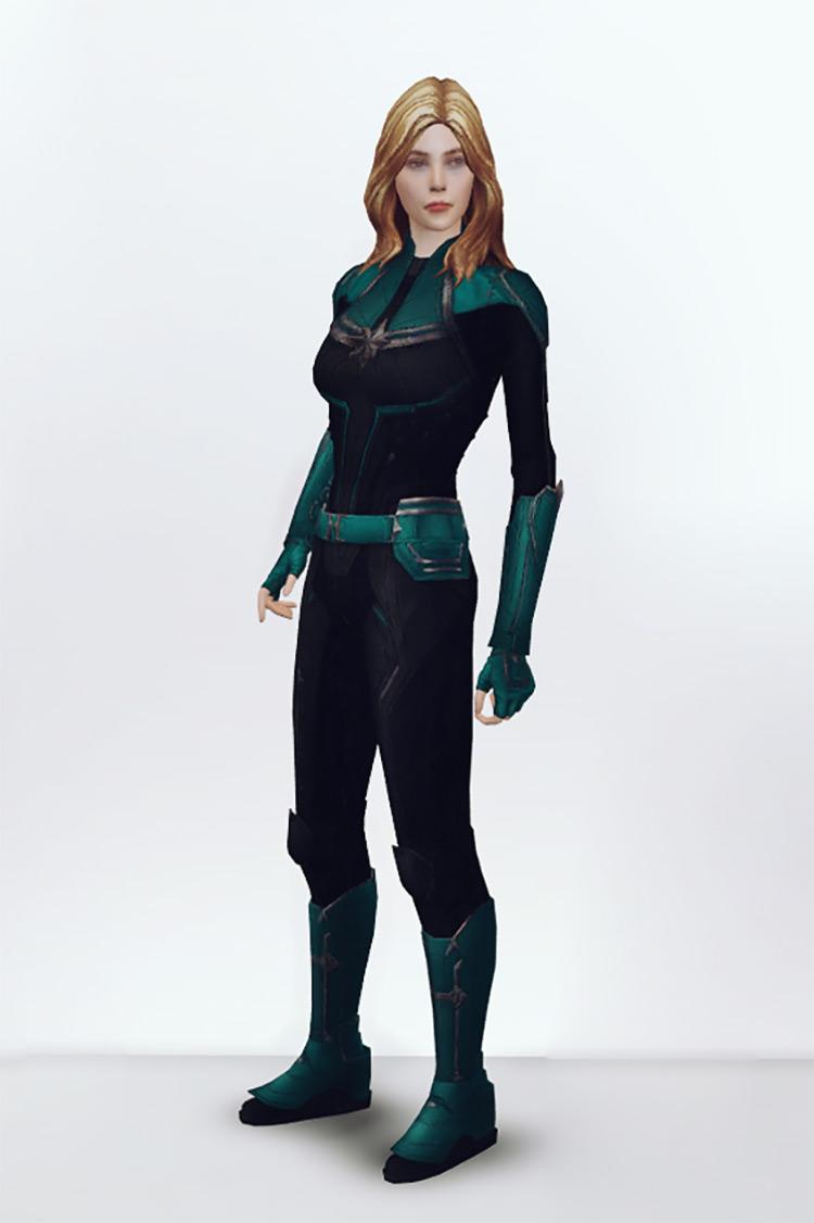 Captain Marvel Costume for Sims 4