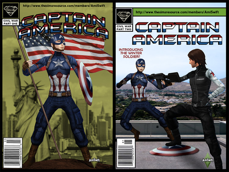 Captain America Outfit TS4 CC