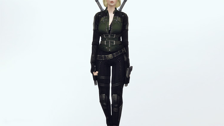 Black Widow Costume for Sims 4