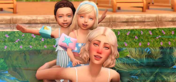 Pool Day Poses with Kids / Sims 4 Preview