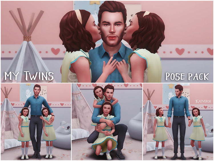 My Twins Pose Pack I for The Sims 4