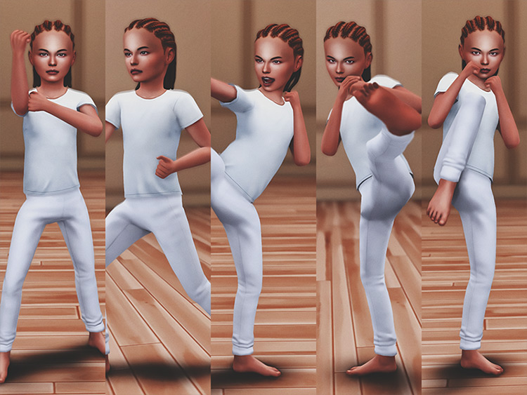 Karate Kid Pose Pack for TS4