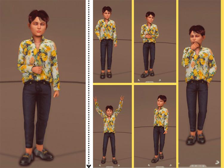 Kids Pose Pack for The Sims 4