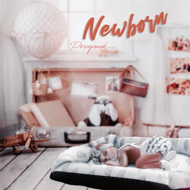 Newborn Pose Pack / Sims 4 CC