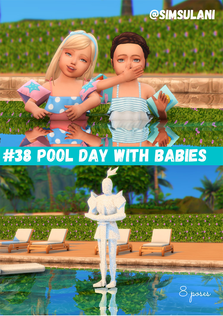 Pool Day With Babies for The Sims 4