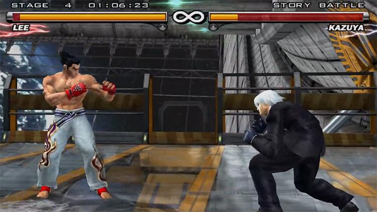 Tekken 5 gameplay on PS2