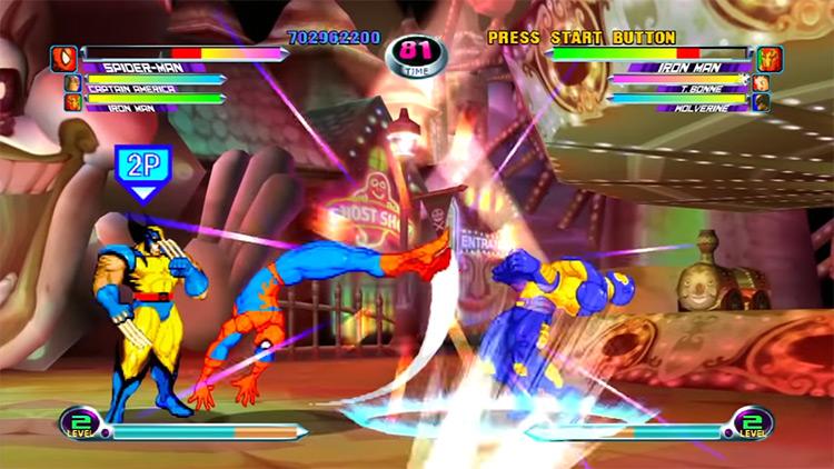 Marvel vs. Capcom 2 gameplay