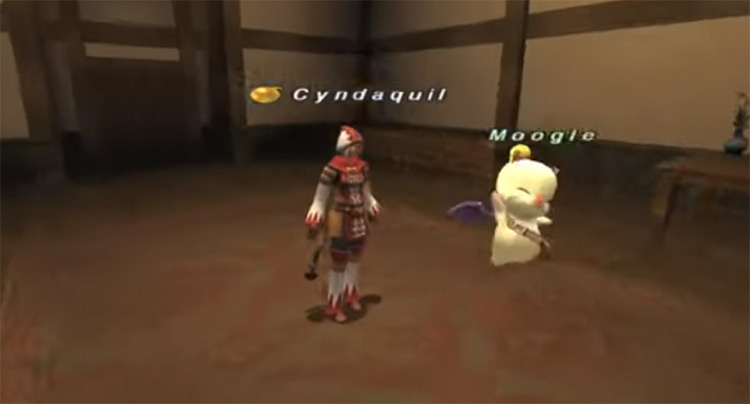 White Mage with Moogle in FFXI