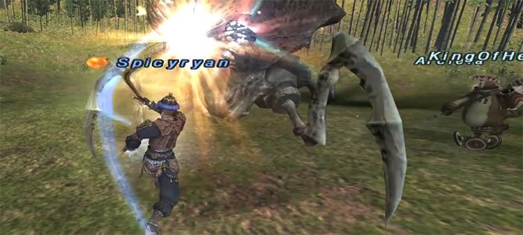 Blue Mage battle screenshot in FFXI