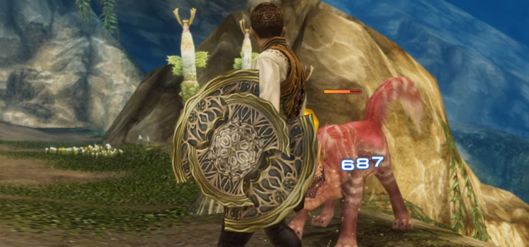 Balthier with Venetian Shield in FFXII The Zodiac Age