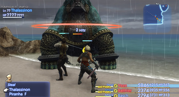 Stealing from a Thalassinon enemy in FF12 The Zodiac Age