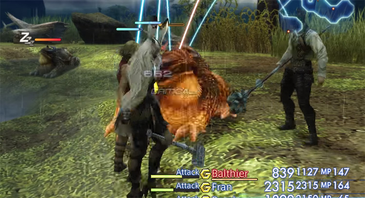 Battling a toad and stealing in FF12 TZA