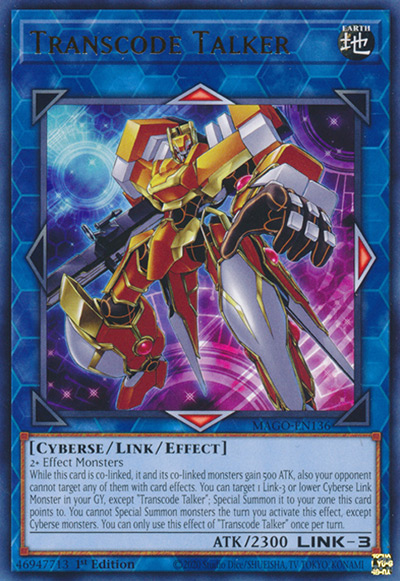 Transcode Talker Yu-Gi-Oh Card