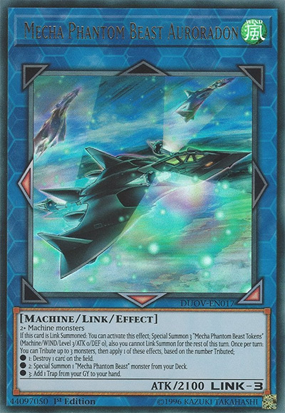 Mecha Phantom Beast Auroradon YGO Card