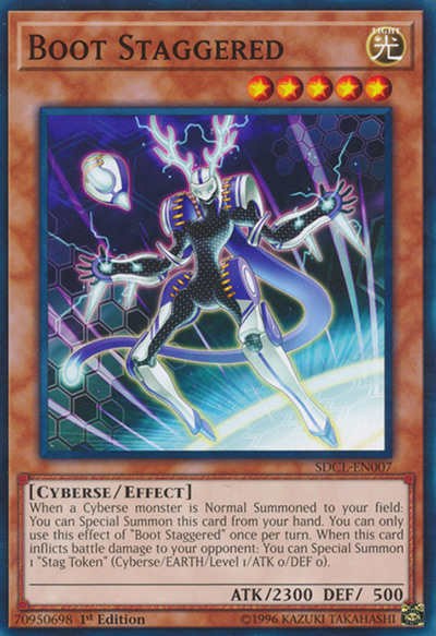 Boot Staggered YGO Card
