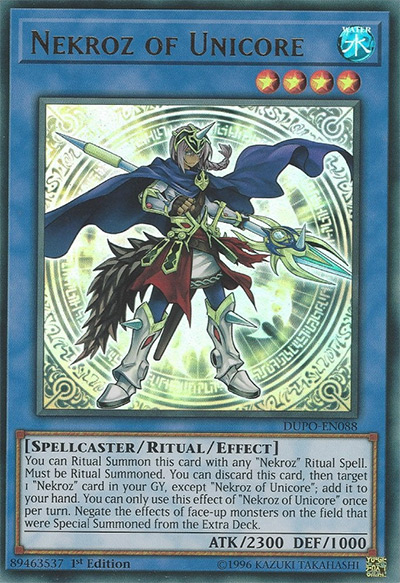 Nekroz of Unicore YGO Card