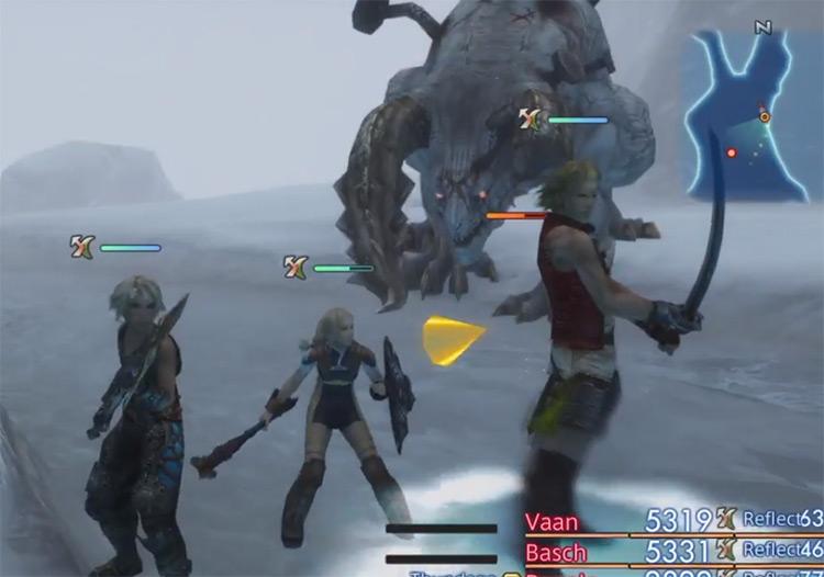 Fafnir hunt battle in FFXII HD