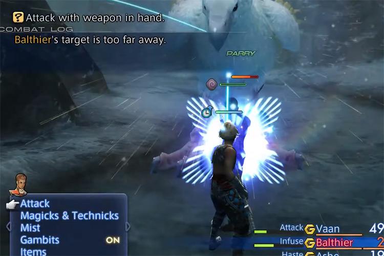 Trickster hunt fight in FFXII HD