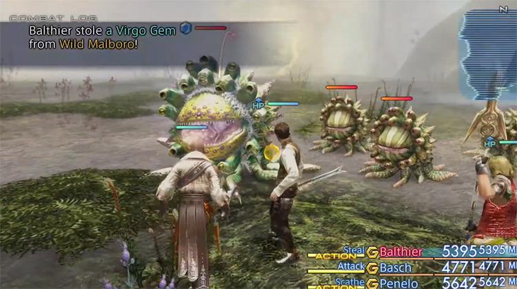 Wild Marlboro hunt battle screenshot from FFXII HD