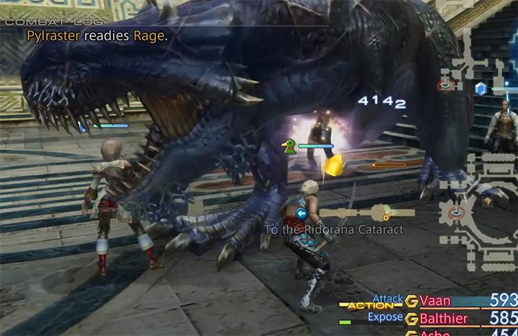 Pylraster hunt mark battle / FFXII HD