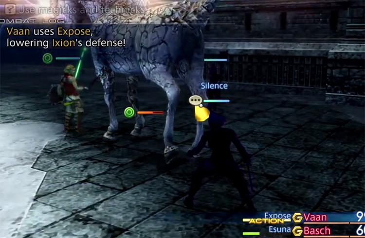 Ixion hunt boss battle in FFXII HD