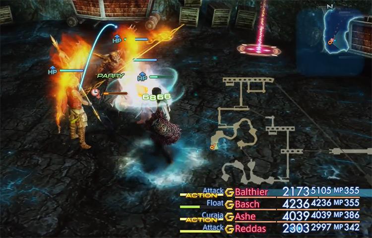 Diabolos hunt battle in FFXII HD