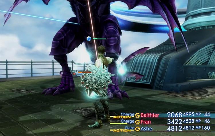 Deathgaze hunt battle in FFXII HD
