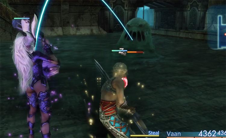 White Mousse dark hunt battle in FFXII HD
