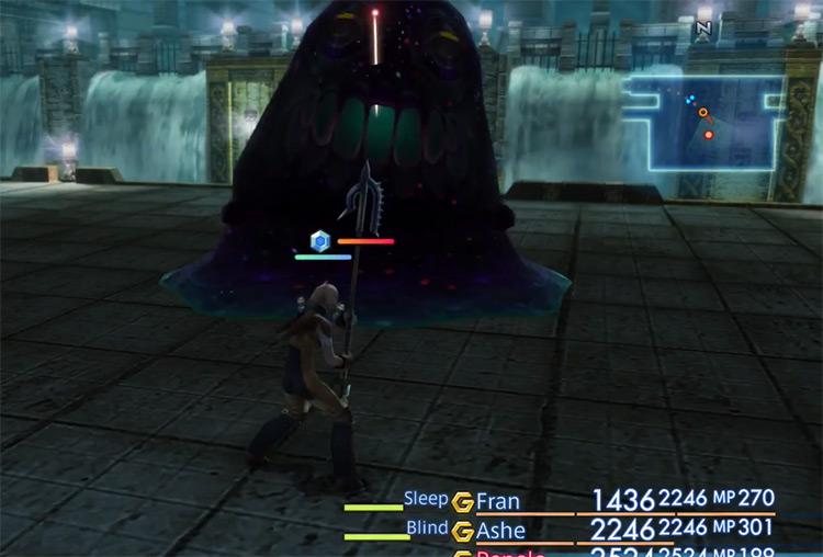 Orthros hunt battle in FFXII HD