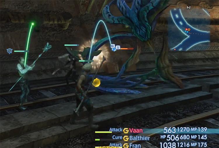 Nidhogg hunt fight in FFXII HD