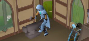 Smithing on an anvil in Prifddinas / OSRS HD Screenshot