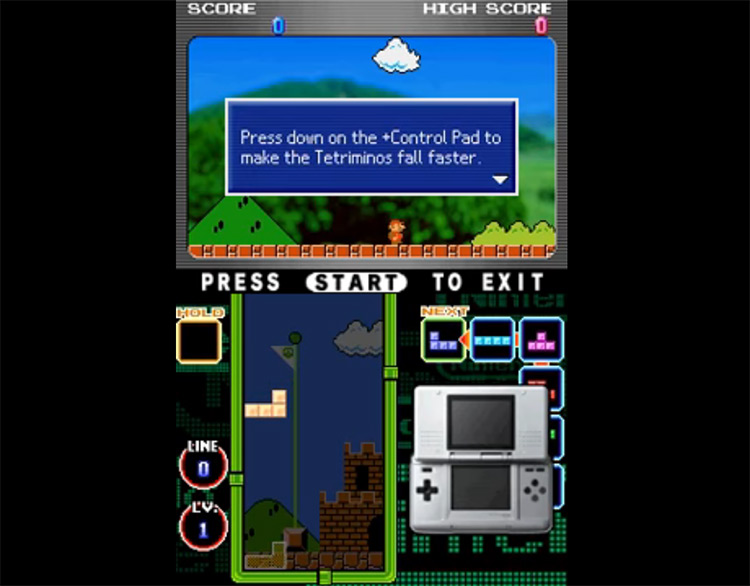 Tetris DS gameplay screenshot