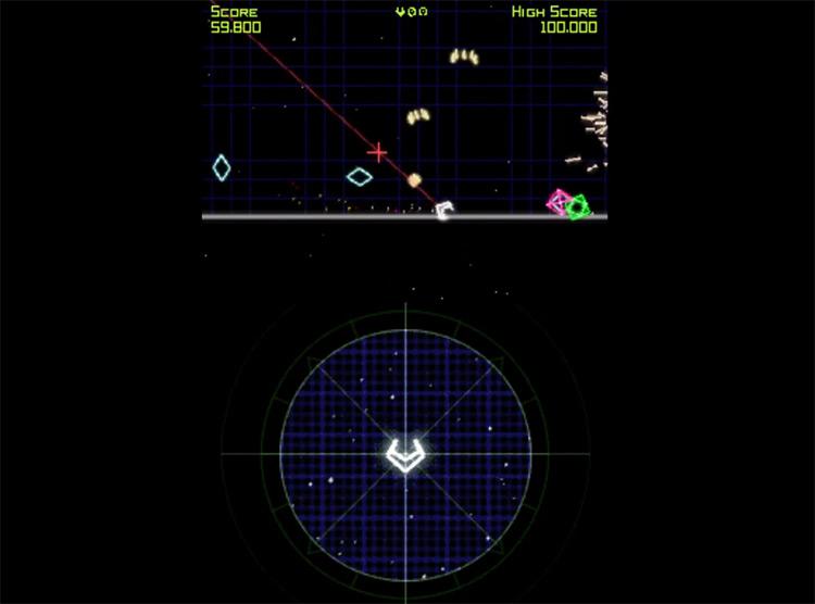 Geometry Wars: Galaxies gameplay