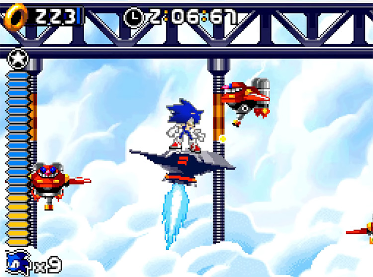 Sonic Rush NDS gameplay