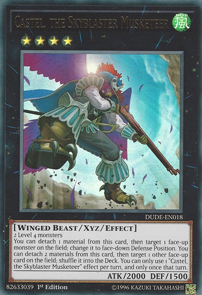Castel, the Skyblaster Musketeer YGO Card