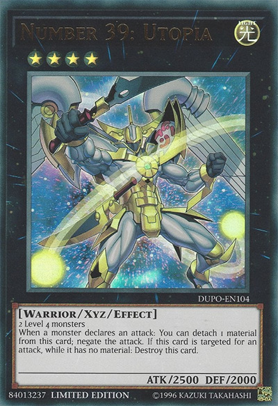 Number 39: Utopia YGO Card