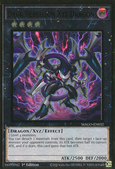 Dark Rebellion XYZ Dragon YGO Card