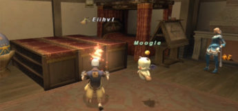 Crafting next to Moogle in Final Fantasy XI