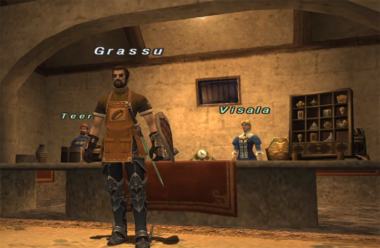 Goldsmithing character in FFXI