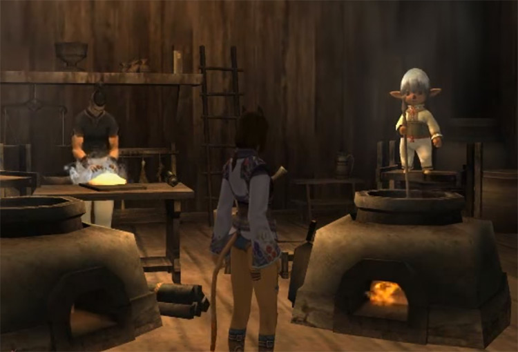 Cooking guild preview in FFXI