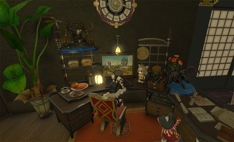 Home office interior space in FFXIV