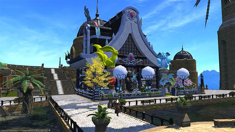 Medium-sized house decorated exterior / FFXIV Screenshot