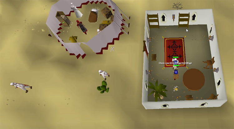 Bandit fighting in OSRS