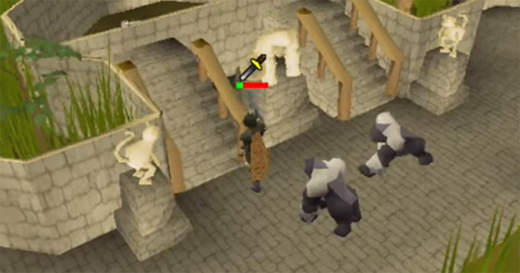 Monkey guards screenshot from OSRS