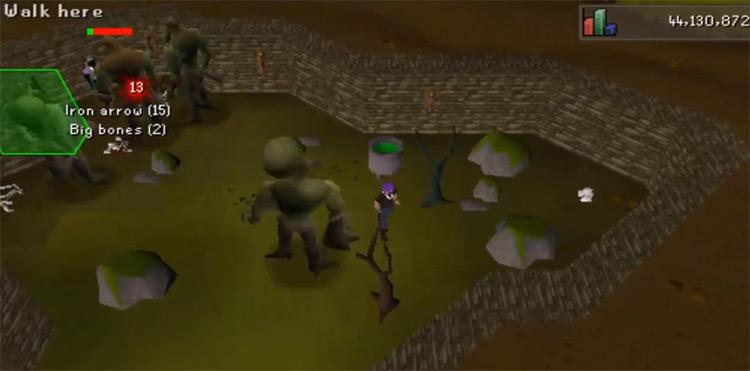 Moss Giants screenshot from OSRS