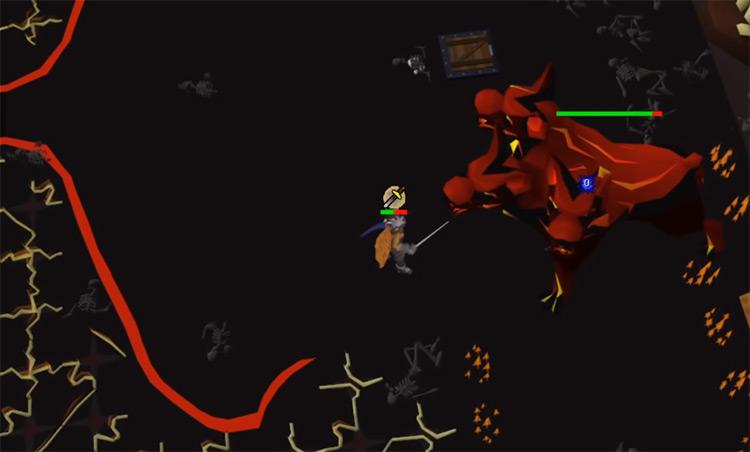 Slayer battle against Cerberus in OSRS
